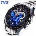 Relógio Tvg Ponteiro Led Multifuncional Sports Aço