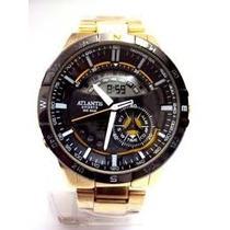 Relógio Atlantis Fantasy Serie Ouro Ou Prata Lançamento 2015