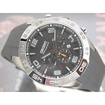 Relógio Orient Crono Quartzo Calendario Preto Pvd Mpspc011