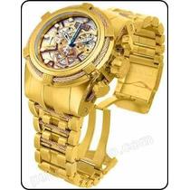 Relógio Invicta Bolt Zeus 13757 Gold Skelecton Original !