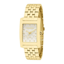 Relógio Technos Feminino Trend Quadrado Dourado 2035lwo/4b