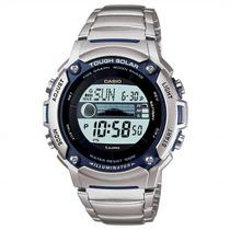 Relógio Casio Solar W-s210 Aço Gráfico Marés Dados Lunar