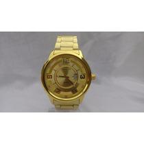 Relógio Masculino Estilo Invicta Dourado