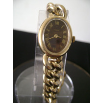Antigo Relogio De Pulso Feminino Em Plaque De Ouro Timex