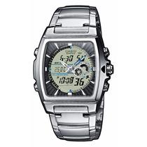 Relógio Casio Edifice Efa-120 D Termômetro 50 Cidades Wr100b
