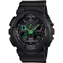 Relógio Casio G-shock Ga-100 C-1a3 H.mundial 5 Alarmes 200m