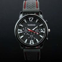 Relógio Militar Piloto Aviador Exército Moda Preto Branco