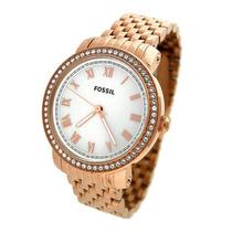 Relógio Feminino Fossil Emma Es3186 Dourado Novo Original