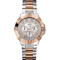 Relógio Guess W0024l1 Crystals Swarovski