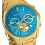 Relogio Michael Kors Mk5910 Gold Azul Turquesa Original