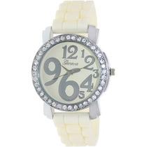 Relógio Feminino Geneva Platinum Silver Cream