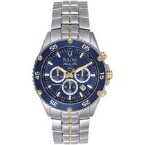 Relógio Luxo Bulova Marinestar 98h37 Chronograph Analógico!!