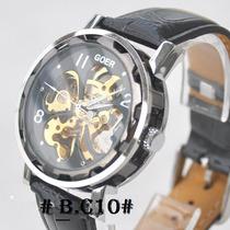 Relógio Goer - Esqueleto - Skeleton - Automático - Novo.