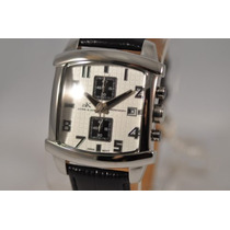 Adee Kaye Chronograph Watch - Pluseira Em Couro Preto.