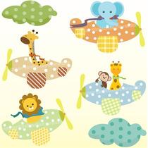 Adesivo Decorativo Parede Infantil Zoo Transporte Safari