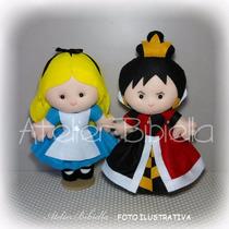 Tema Alice No País Das Maravilhas 1 Personagem 25cm Feltro