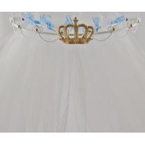 Dossel Coroa + Véu Cortinado Provensal Arabesco Grande