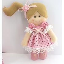 Boneca Feltro Enfeite Porta Maternidade Quarto Bebê - Gl005