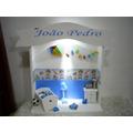 Porta Maternidade Quarto Miniatura Menino Com Pipa Com Led
