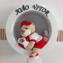 Enfeite Porta Maternidade Nicho Redondo Urso Time De Futebol