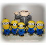 Meu Malvado Favorito / Minions - Kit 6 Personagens Feltro