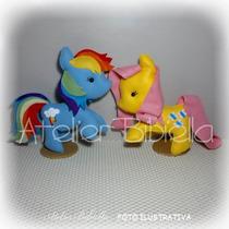 My Little Pony - Kit 6 Personagens 25cm Feltro P/ Decoração