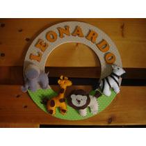 Porta Maternidade Enfeite Porta Safari Boneca Urso Quadro