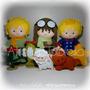 Pequeno Príncipe 30cm- Kit 8 Personagens Feltro P/ Decoração