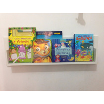Prateleira Estante Livros Infantil Frente Acrílica 80x15x10