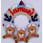 Guirlanda Porta Maternidade Ursinhos De Feltro Marinheiro