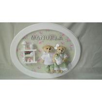 Quadro Família Urso Porta Maternidade