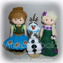 Frozen Fever Bibiella - Anna E Elsa 40cm / Olaf 30cm Feltro