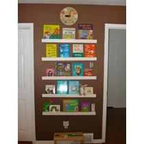 3 Prateleiras Rasas P/ Livros Infantil/bebê C40xp11,5xa10cm