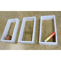 Jogo De 3 Nichos Brancos 50x25x10cm 100% Mdf (15mm) Moderno