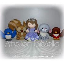 Princesa Sofia 25cm- Kit 5 Personagens Feltro P/ Decoração
