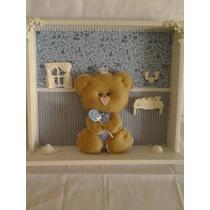Enfeite Quadro Porta Maternidade Decoração Quarto Bebe Urso