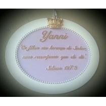 Enfeite Porta Maternidade Com Salmos Ou Oração Mdf Decorado
