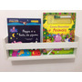 02 Prateleiras Livros Infantil 60x15x10 - Frete Gratis