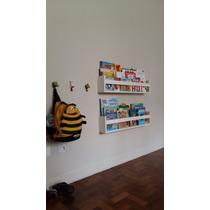 02 Prateleiras Livros Infantil 80x15x10 - Frete Grátis