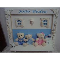 Enfeite Quadro E Porta Maternidade Ursinhos Família Urso