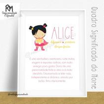 Quadro Significado Do Nome Quarto De Bebê Decoração A4
