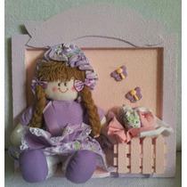 Porta De Maternidade Grande Quadro Decorativo C/nome Do Bebê