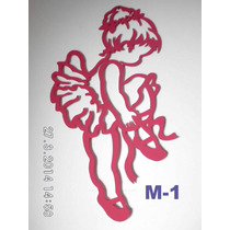 Bailarinas- Quadro Para Quarto De Bebês Em Mdf 3mm Pintado
