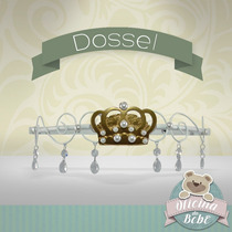 Dossel Princesa P/ Véu Coroa Mosquiteiro Cristal Bebê Pérola