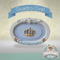 Coroa Porta Maternidade Oval Rei Principe Bebê Menino Menina