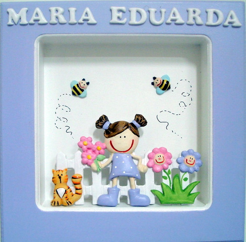 Quadro Maternidade - Menina, Jardim, Camponeza, Zoo