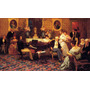 Chopin Tocando Piano No Salão Pintor Siemiradzki Tela Repro