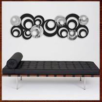Quadro Abstrato Escultura De Parede Mdf C/ Espelho Acrílíco