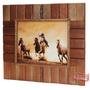 Quadro Decorativo Cavalos Fabricado Em Madeira - Rodeo West