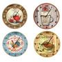 Relógio Parede-retrô-vintage-café-bar-cupcake-churrasco